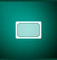 doormat icon on green background welcome mat sign vector image vector image
