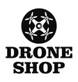 drone market logo simple style vector image