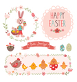 Easter graphic elements vector image vector image