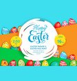 easter holiday template vector image vector image
