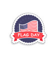 flag day of usa poster title vector image vector image