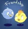 funny character bird vector image