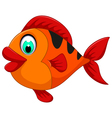 funny cute fish cartoon for you design vector image vector image
