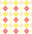 Geometric waving grid pattern vector image