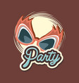 glasses mask masquerade decoration retro party vector image