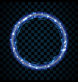 gold and blue circle isolated on transparent black vector image vector image