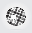 grayscale tartan icon - hamburger melted cheese vector image vector image
