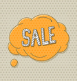 Hand-drawn comic style talk cloud Sale vector image