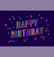 happy birthday greeting card banner poster and vector image vector image
