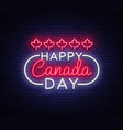 happy canada day greeting card design template vector image vector image
