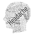 Headaches text background wordcloud concept vector image vector image