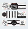 horizontal banner set for vector image vector image