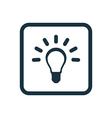 idea icon Rounded squares button vector image