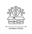 initial coin offering linear icon vector image