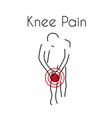 knee pain linear icon vector image