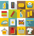 laundry icons set flat style vector image vector image