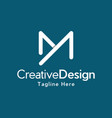 letter my creative business logo vector image vector image