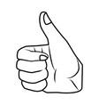 like hand symbol pop art vector image vector image