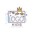 logo kids original creative concept template vector image vector image