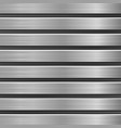 metal texture with horizontal brushed planks vector image vector image