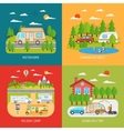 Motorhome Concept Icons Set vector image vector image