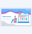 online courses web landing page home education vector image
