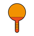 orange ping pong racket vector image vector image