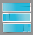 Paper design template for numbered bannerswebsite vector image vector image