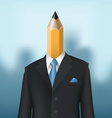 pencil man vector image vector image