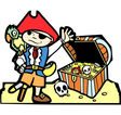 Pirate with Treasure Chest vector image vector image