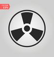 radioactive toxic atom danger hazard vector image