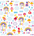 rainy day seamless pattern vector image vector image