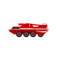 red armored firefighting truck emergency service vector image vector image