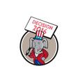 Republican Elephant Mascot Decision 2016 Circle vector image vector image