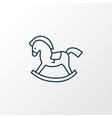 rocking horse icon line symbol premium quality vector image