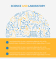 scientific laboratory research creative poster vector image vector image