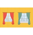Set of curtains in two variants vector image vector image