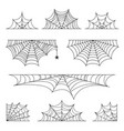 set spider web for halloween halloween cobweb vector image