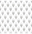 silver textured seamless pattern grapes vector image