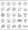 sport equipment trendy style icons on white vector image vector image