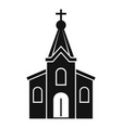 stone church icon simple style vector image vector image