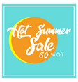 summer sale background design vector image