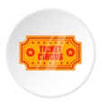 Ticket to circus icon cartoon style vector image