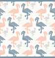 trendy pink and blue pastel flamingo silhouette vector image