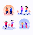 universal childrens day icon set vector image vector image