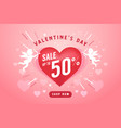 valentine day sale banner design template vector image vector image