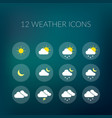 weather colorful icons set vector image
