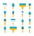 Set of icons of tool vector image