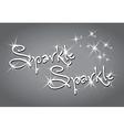 sparkle sparkle vector image