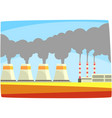 energy generation power station thermal or nulear vector image